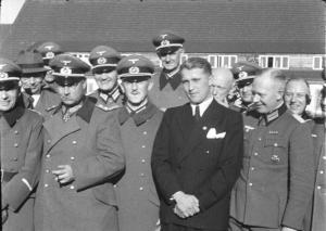 Werner von Braun with Nazi Officers