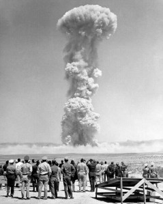 Nuclear Explosion with people