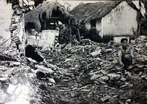 Bombed-Vietnam-Village